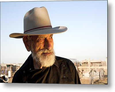 Leo The Cowboy Metal Print by Ronald Hoggard