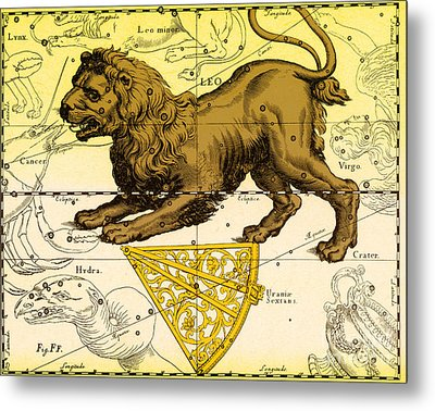 Leo, The Hevelius Firmamentum, 1690 Metal Print by Science Source