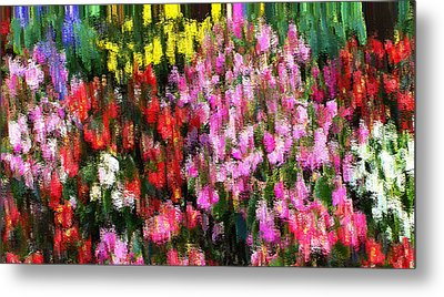 Metal Print featuring the mixed media Les Fleurs by Terence Morrissey
