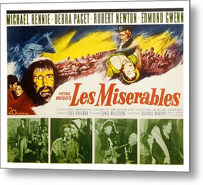 Les Miserables, Michael Rennie, Debra Metal Print by Everett