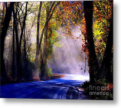 Let Your Light Shine Down On Me Metal Print by Carolyn Wright
