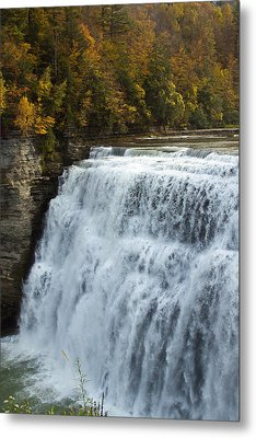 Letchworth Middle Falls Metal Print by Darleen Stry