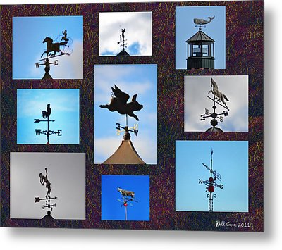 Lets Talk About The Weather Metal Print by Bill Cannon