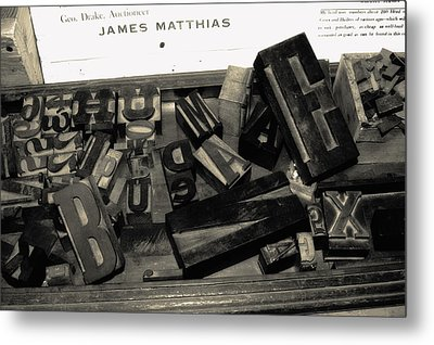 Letters Metal Print by Christina Young