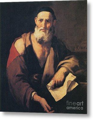 Leucippus, Ancient Greek Philosopher Metal Print