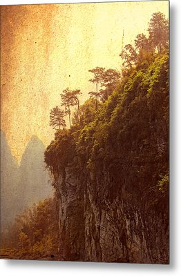 Li River Mountainside Metal Print