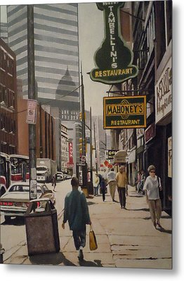 Liberty Avenue In The 80s Metal Print by James Guentner