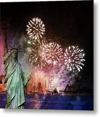 Liberty Metal Print by Elizabeth  Doran