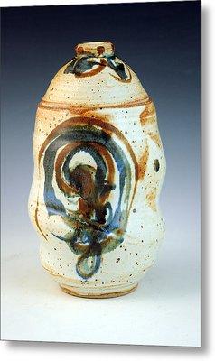 Lidded Jar 8 Metal Print by Alejandro Sanchez