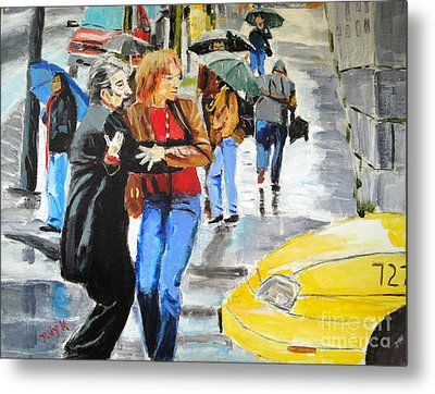 Metal Print featuring the painting Life In The Big City by Judy Kay