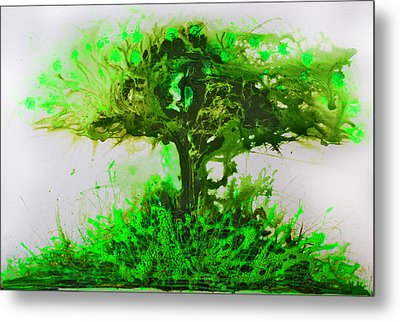 Metal Print featuring the painting Life Tree by Lolita Bronzini