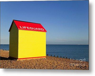 Lifeguard Hut Metal Print by Richard Thomas