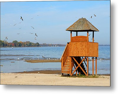 Metal Print featuring the photograph Lifeguard Lookout by Mark J Seefeldt