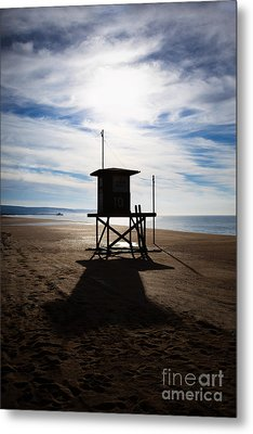 Lifeguard Tower Newport Beach California Metal Print by Paul Velgos