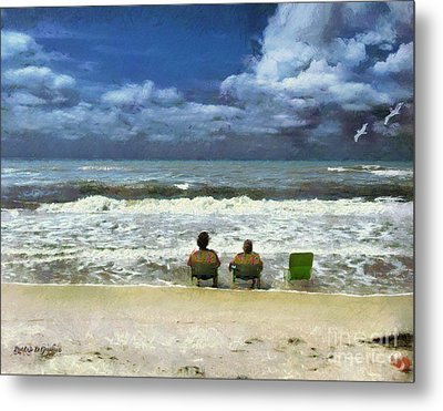 Metal Print featuring the digital art Life's A Beach by Rhonda Strickland