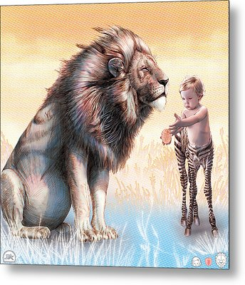 Liger  The Gift Metal Print by David Starr