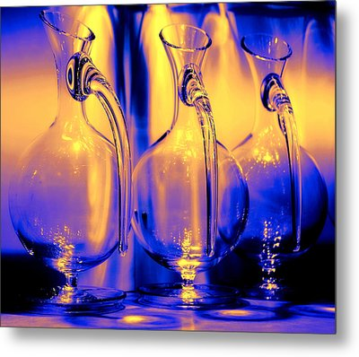 Light And Colors Play I Metal Print by Jenny Rainbow