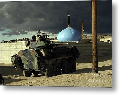 Light Armored Vehicle Commander Mans Metal Print by Stocktrek Images