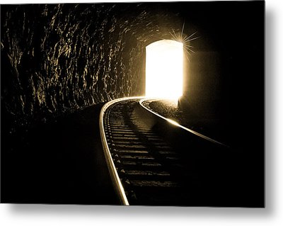 Light At The End Of The Tunnel Metal Print by Joye Ardyn Durham