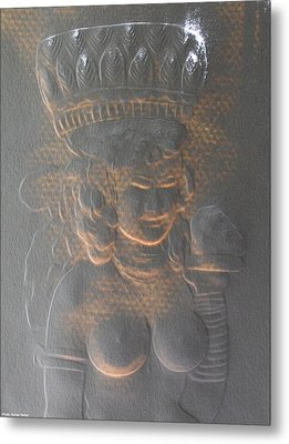 Light Behind Relief Art Metal Print by Suhas Tavkar