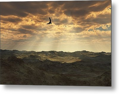 Light In The Valley Metal Print by Julie Grace