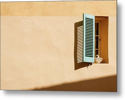 Light On Window Metal Print by Www.saint-tropez-photo.com