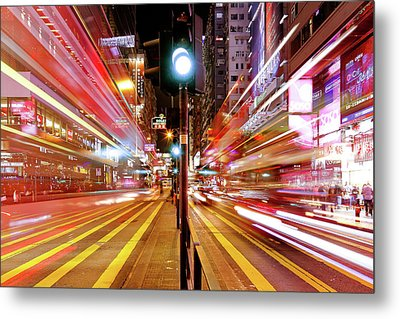 Light Trails Metal Print by Andi Andreas