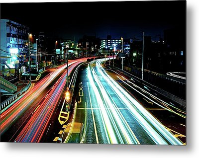 Light Trails Metal Print by Photo by ball1515