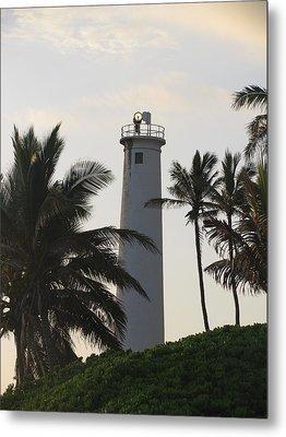 Lighthouse In Hawaii Metal Print