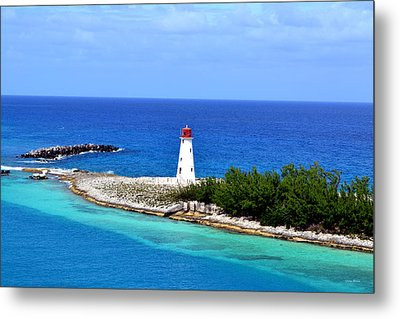 Metal Print featuring the photograph Lighthouse In Nassau by George Bostian