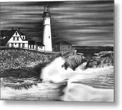 Lighthouse Metal Print by Jerry Winick