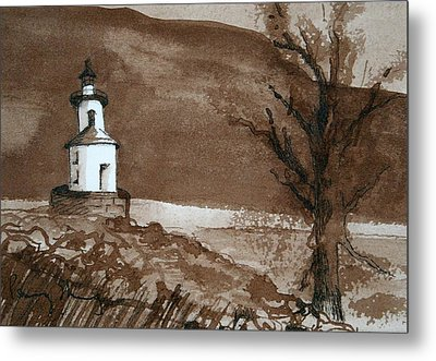 Lighthouse On Wisconsin Point Metal Print