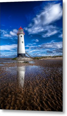 Lighthouse Reflections Metal Print by Adrian Evans