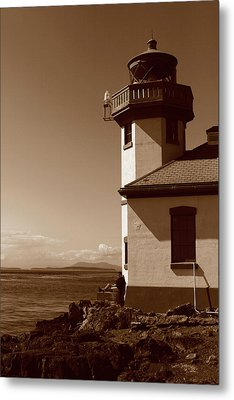 Metal Print featuring the photograph Lighthouse San Juan by Lorraine Devon Wilke