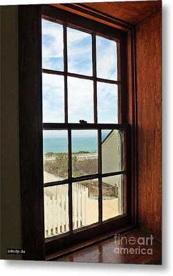 Lighthouse Window Metal Print by Methune Hively