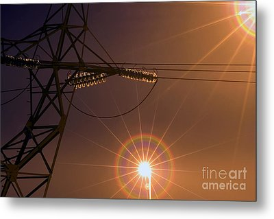 Lighting Metal Print by Odon Czintos