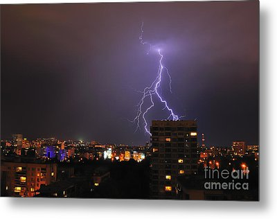 Lightning Metal Print by Evmeniya Stankova