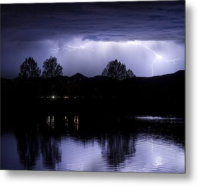 Lightning Over Coot Lake Metal Print by James BO  Insogna