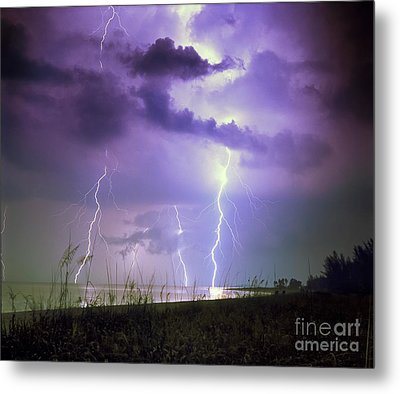Lightning Over Florida Metal Print