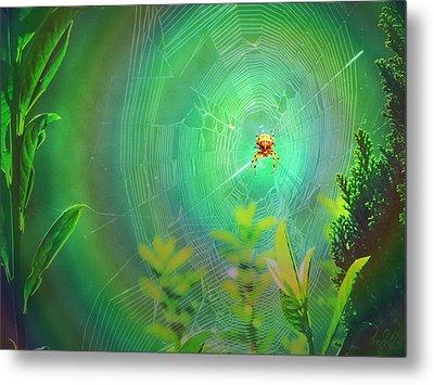 Lightning Spider Metal Print by Helmut Rottler
