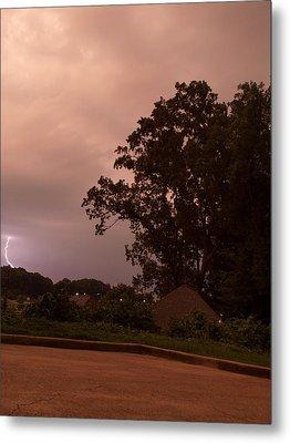 Lightning Strike In Mississippi Metal Print by Joshua House