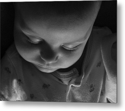 Metal Print featuring the photograph Like A Baby...finally. by Elizabeth  Sullivan