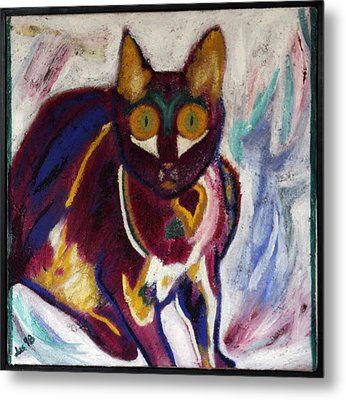 Metal Print featuring the painting Lil Wicci by Leslie Byrne