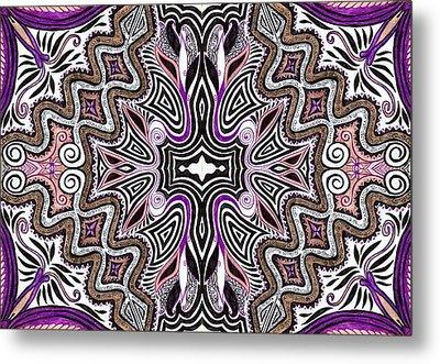 Lilac Garden4 Metal Print by Samar Asamoah