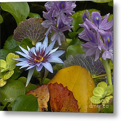 Lilies No. 37 Metal Print by Anne Klar