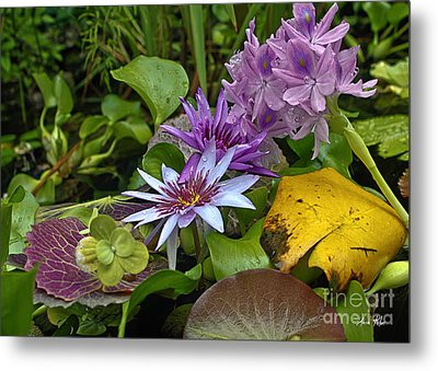 Lilies No. 39 Metal Print by Anne Klar
