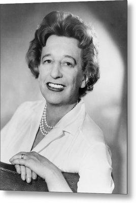 Lillian Hellman 1905-1984 Dramatist Metal Print by Everett