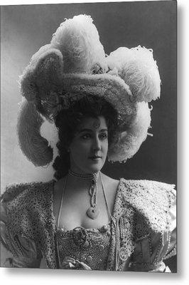 Lillian Russell 1861-1922, American Metal Print by Everett