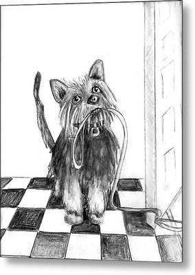 Lillie By The Door Metal Print by Carol Allen Anfinsen