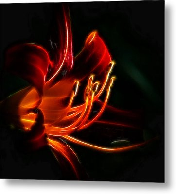 Metal Print featuring the photograph Lily Flame by Joetta West